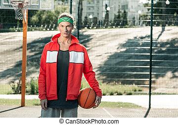 pleasant, 청년, 입는 것, a, 스포츠 재킷