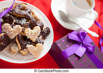 pleasant gift for Valentine's Day sweet cookies