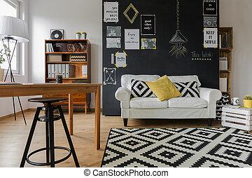 Pleasant interior of contemporary flat - Pleasant interior...