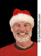 Pleasant man in Santa Hat