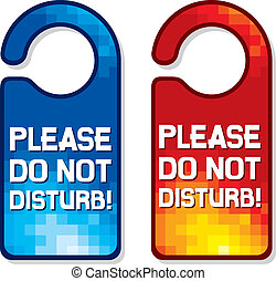please do not disturb sign set