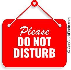 Please do not disturb vector sign
