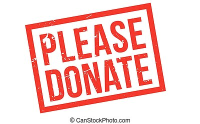 Please Donate rubber stamp