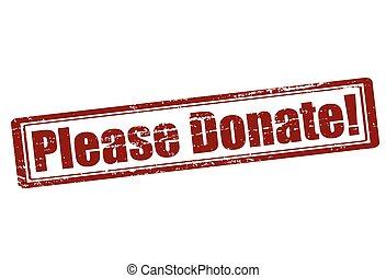 Please donate