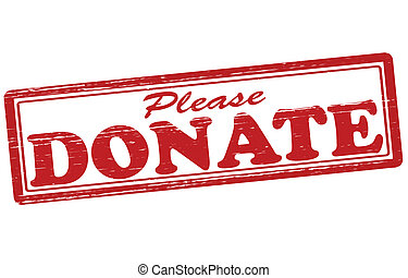 please donate rubber stamp stock illustrations 90 please donate