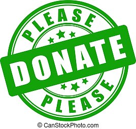 Please donate vector sign
