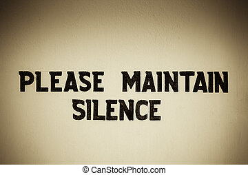 please maintain silence board
