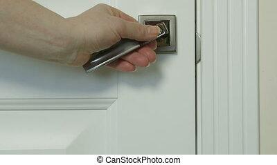 Please make up room sign on door knob closeup