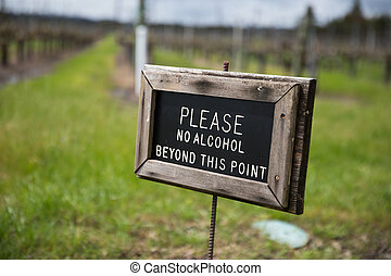 Please No Alcohol Beyond This Point Sign