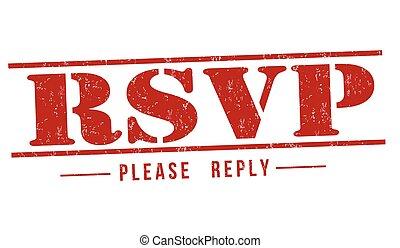 Please Respond stamp - Please Respond grunge rubber stamp on...