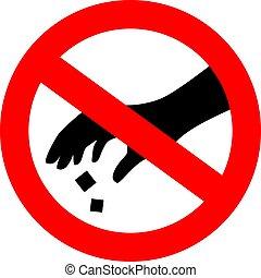 Please use dustbin vector sign, nolittering