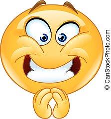 Pleasing emoticon - Emoticon with a pleasing expression