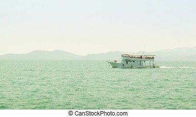 Pleasure boat in the sea