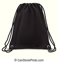plecak, do góry, torba, wektor, czarnoskóry, kpić