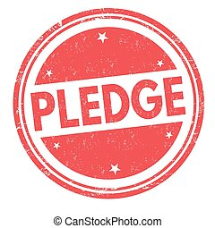 Pledge grunge rubber stamp