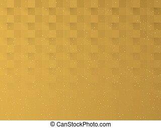 plegadizo, patrón, oro, pantalla