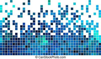 plein, abstract, vector, achtergrond, pixel, mozaïek
