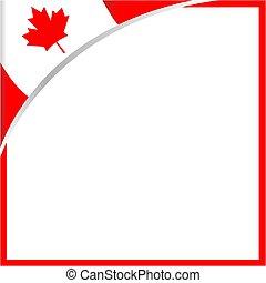 plein, blad, border., canadese vlag, hoek, esdoorn