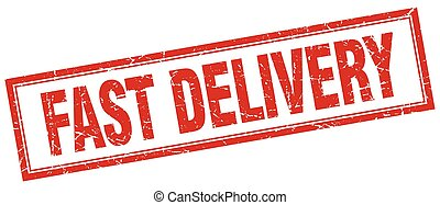 plein, grunge, postzegel, snelle levering, wit rood