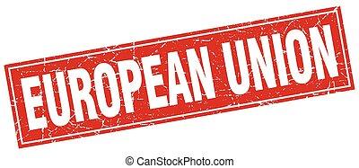 plein, grunge, unie, ouderwetse , vrijstaand, postzegel, rood, europeaan