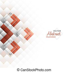 plein, illustration., abstract, shapes., achtergrond., vector