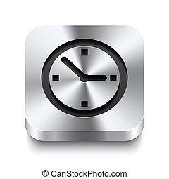 plein, -, knoop, horloge, metaal, perspektive, pictogram