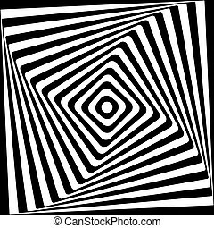 plein, model, abstract, spiraal, achtergrond., black , witte
