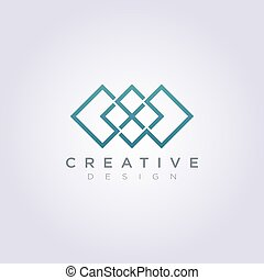plein, model, moderne, vector, ontwerp, logo, lijn, pictogram
