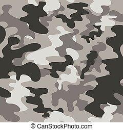 plein, model, seamless, camouflage, grijze , vector