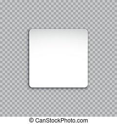 plein, sticker, vrijstaand, achtergrond., vector, witte , transparant