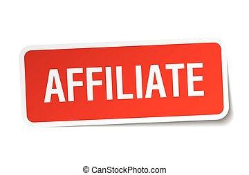plein, sticker, vrijstaand, affiliate, wit rood