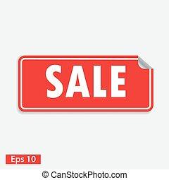 plein, vrijstaand, verkoop, rood, sticker, witte