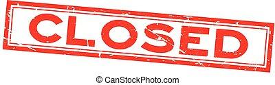 plein, woord, achtergrond, postzegel, rubber, gesloten, zeehondje, grunge, wit rood