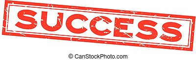 plein, woord, succes, postzegel, rubber, achtergrond, zeehondje, grunge, wit rood