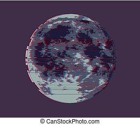 pleine lune, illustration, lune, sombre, vecteur