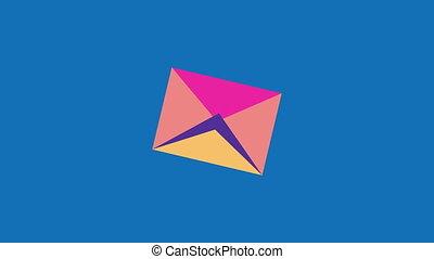 plek, boodschap, vliegen, enveloppe, post