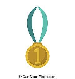 plek, medaille, toewijzen, eerst