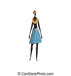 plemię, fason, traditions., afryka, femininity., afrykanin
