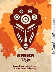 plemienna maska, afrykanin