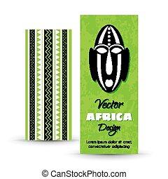 plemienna sztuka, chorągwie, afrykanin