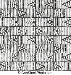plemienny, pattern., seamless, tło., hand-drawn, wektor
