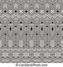 plemienny, pattern., seamless, tło., wektor, geometryczny, abstrakcyjny