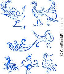 plemienny ptaszek, ilustracja