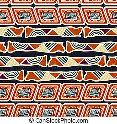 plemienny, seamless, ilustracja, wektor, etniczny, texture.