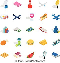 Plenty icons set, isometric style