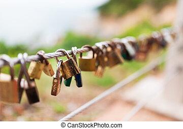 Plenty of master key locked along the wall