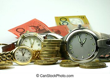 Conceptual image of plenty of 'time and money'
