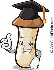 pleurotus, hongo, carácter, graduación, erynggi, caricatura