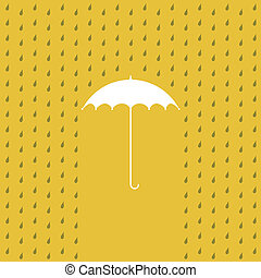 pleuvoir, -, parapluie, illustration