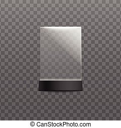 Plexiglass menu and cards desktop stand template vector ...